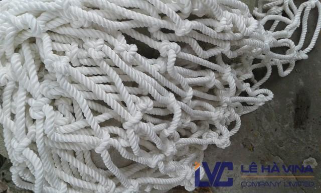 lưới an toàn dù trắng, lưới an toàn, lưới hứng rơi, lưới an toàn xây dựng