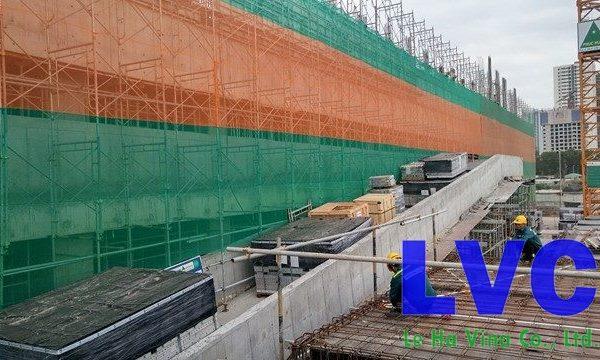 lưới bao che công trình xây dựng, Lưới xây dựng, Lưới chắn bụi công trình