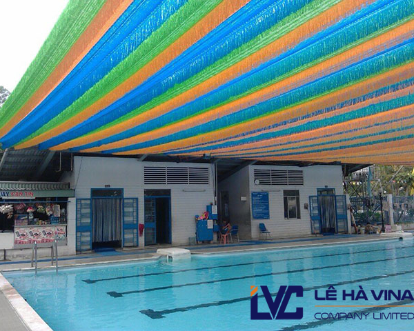 lưới che nắng đa sắc Đài Loan, Lưới che nắng đa sắc, lưới che hồ bơi, lưới hồ bơi